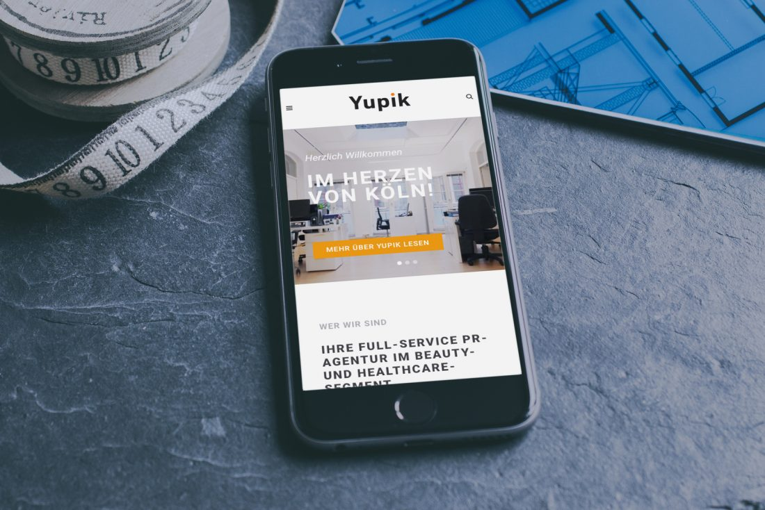 yupik website mockup mobile