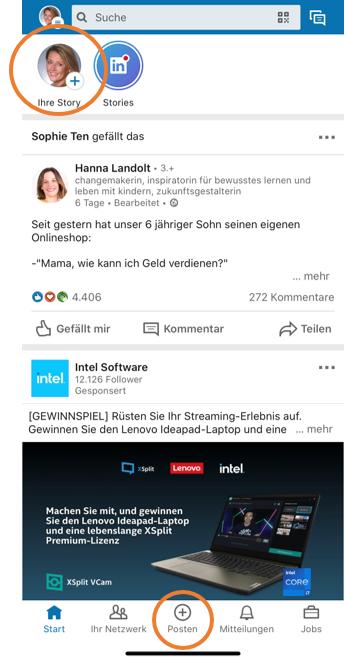 LinkedIn-Story erstellen