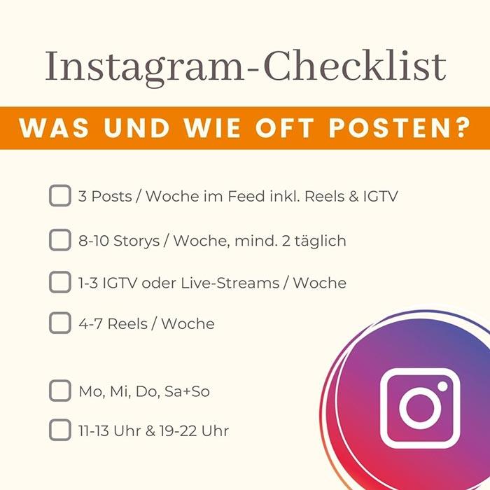 Instagram Checkliste